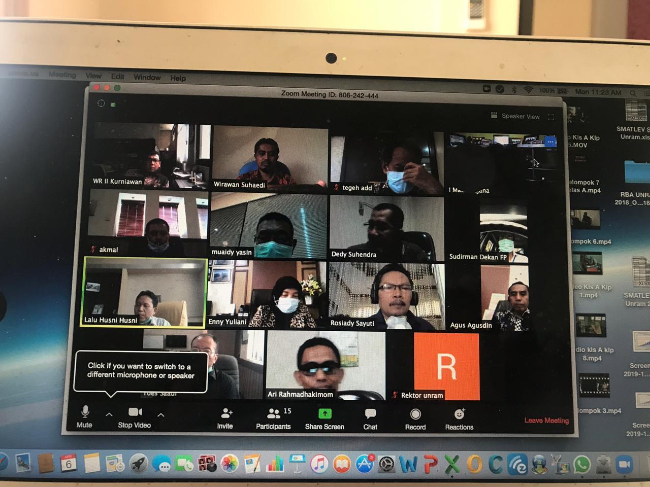 Rapat Kerja UNRAM Secara Daring (Online)