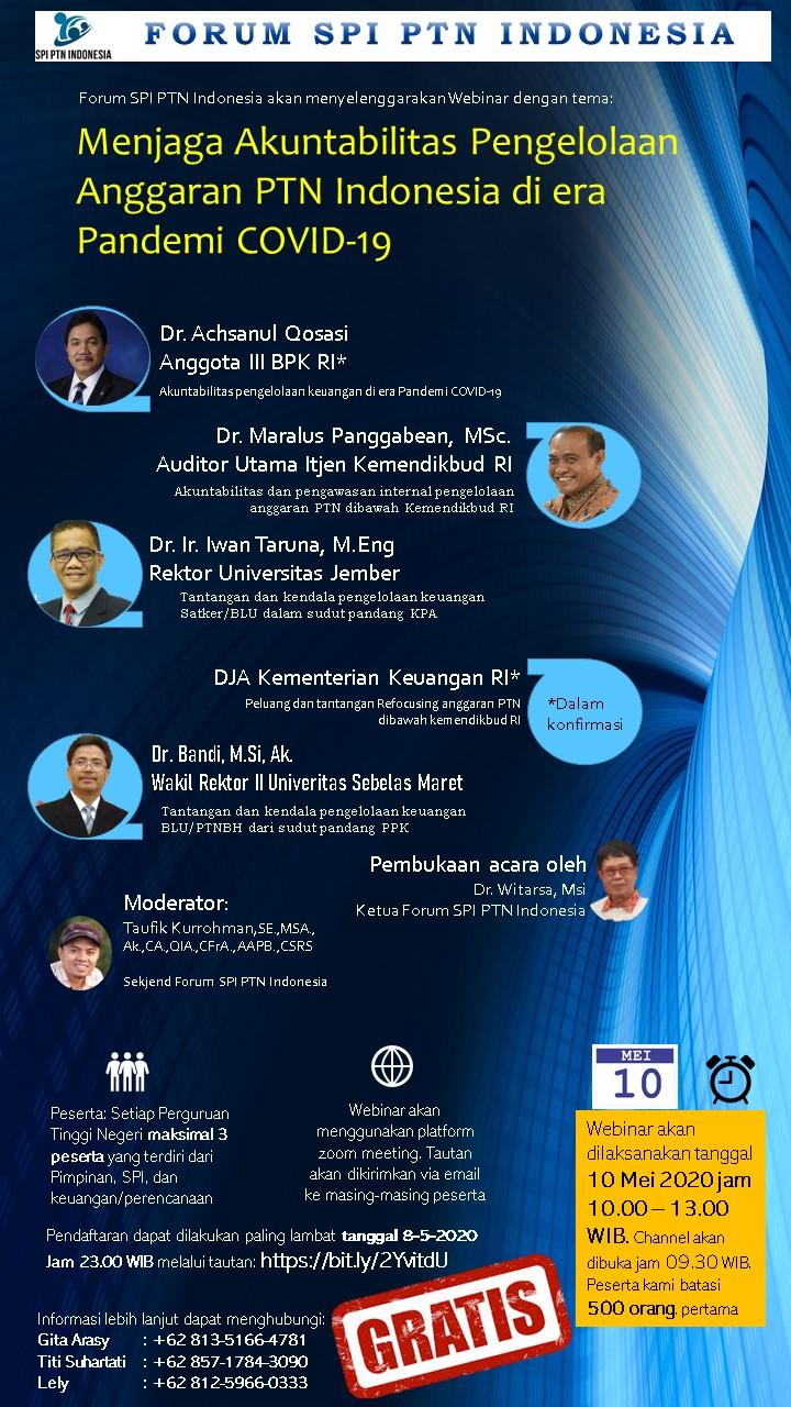 WEBINAR FORUM SPI PTN INDONESIA